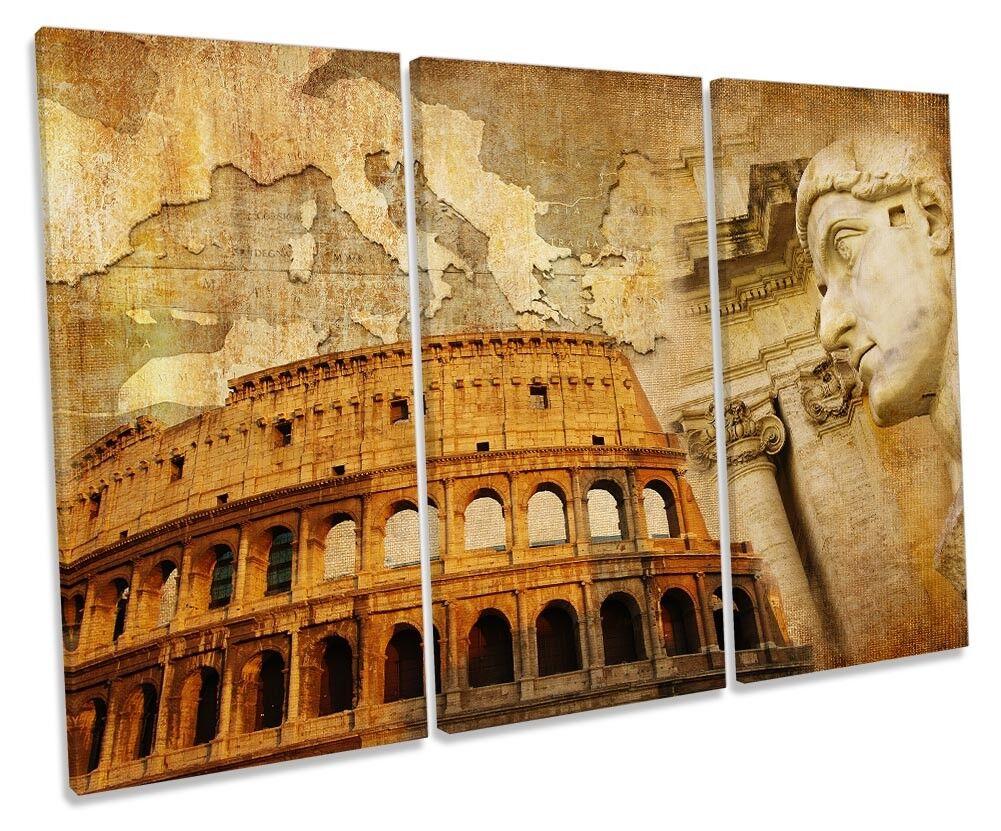 Rome  Landmarks Picture TREBLE CANVAS WALL ART Print