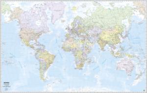 Cartina Mondo Png.Mondo Cartina Murale 132x84 Cm In Piano Senza Aste Belletti Ebay