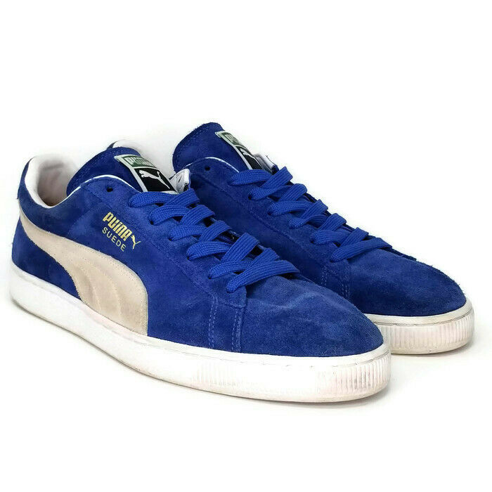 PUMA Suede Classic+ 352634 64 Olympian bluee White Mens Size 13