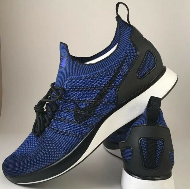 Men's Nike Air Zoom Mariah Flyknit Racer Running Shoe BLKBlue 918264 007 Sz 11