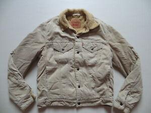 Levi-039-s-Jeans-Vintage-Sherpa-Cord-Jacke-Fell-Gr-L-Warm-mit-Teddy-gefuettert