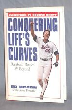 Conquering Life's Curves Mets Catcher Ed Hearn 1st Print Autograph (1986 Champs)