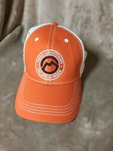 Image is loading Magellan-Outdoors-Pro-Angler-Series-Orange-White-Hat- 5cc0e1814a9