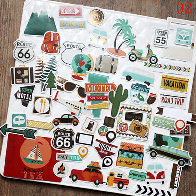 TRAVEL vacation die cuts scrapbook cards