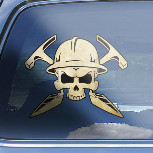 Mason Skull Crossbones Decal masonry bricklayer stonemason skull n bones sticker