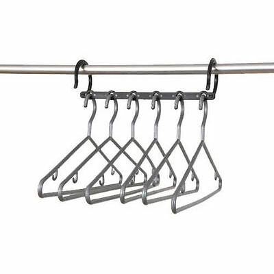 MULTI-HANGING COAT HANGER BAR + 6 Hangers Save Space Saving Original Gift  119-1