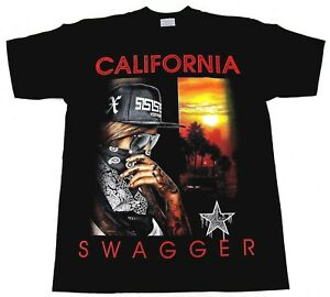 CALIFORNIA-SWAGGER-T-shirt-Cali-Swag-Urban-Streetwear-Tee-Men-Black-New
