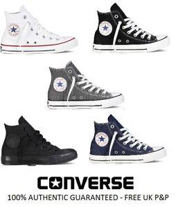 Détails sur Nouveau Converse All Star CT Hi Top Toile Baskets Blanc Noir Gris Taille UK 3 4 5 6 afficher le titre d'origine