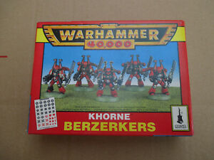 D11C30 KHORNE BERSEKERS WARHAMMER 40000 W40K (1996) NIB OPENED