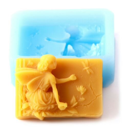 Flower Fairy Rectangle Landscape Silicone Soap Mould Pack of 5 R05565