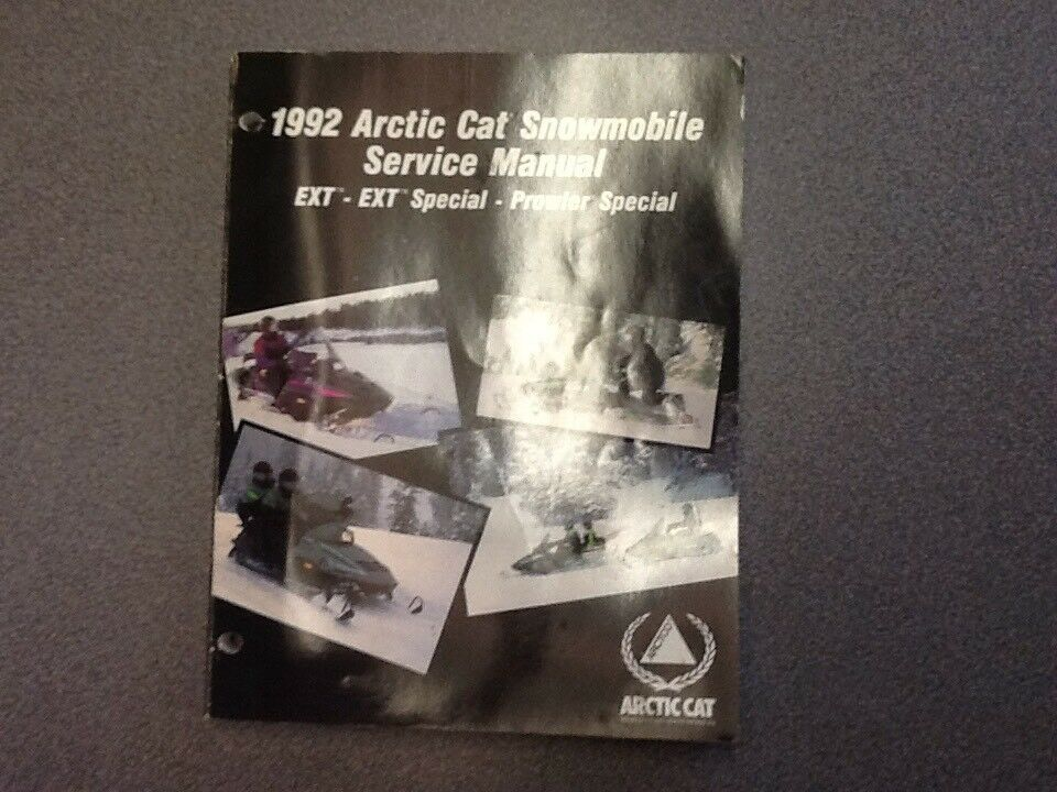 ARCTIC CAT OEM SERVICE MANUAL 1992 EXT EXT SPECIAL PROWLER SPECIAL 2254-733