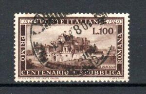 Italy 1949 100l Centenary of Roman Republic FU CDS