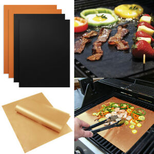 Bbq Sheet Washable Bbq Grill Non Stick Outdoors Heat Resistant Oven Lining Cooker Liner Mat Heavy Duty