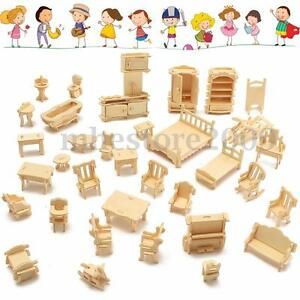 34Pcs-3D-DIY-Wooden-Miniature-Dollhouse-Furniture-Model-Kids-Play-Toys-Xmas-Gift