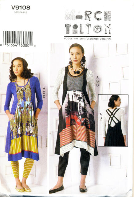 Vogue Sewing Pattern 9108 Misses 16-26 Marcy Tilton Top Dress ...