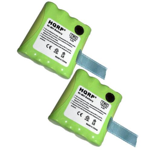 LXT-490 2x HQRP Two-Way Radio Batteries for Midland BATT6R LXT-480 LXT-490VP3