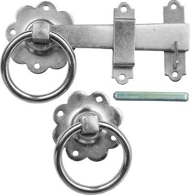 Twisted Ring Gate Latch Door Catch Traditional Antique Black Premium UK Quality