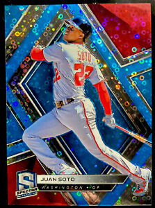 🔥 JUAN SOTO /99 2019 Panini SPECTRA NEON BLUE DONUTS Prizm REFRACTOR 2nd Year!