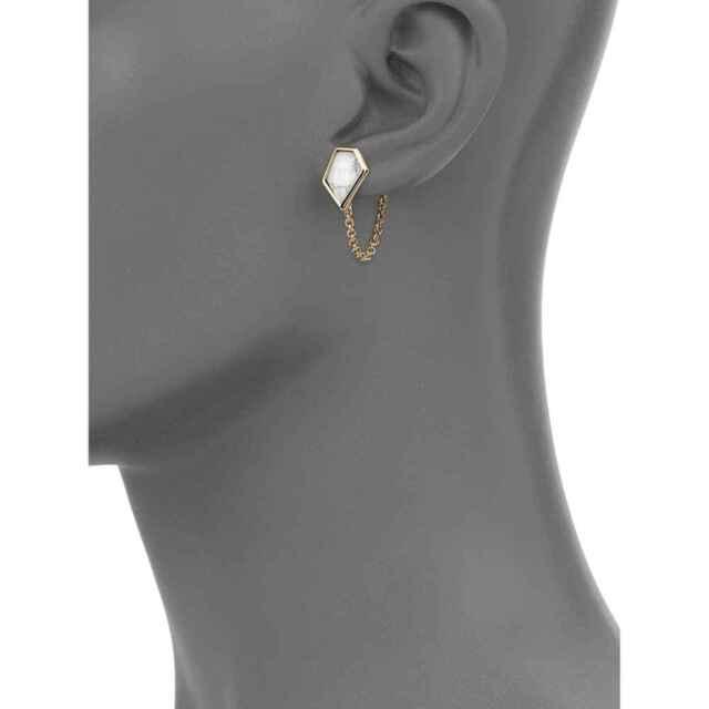 Alexis Bittar Miss Havisham Chain Stud Earrings 125