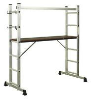 Sealey Aluminium Scaffold Ladder 4-way En 131 Ascl2