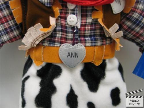 Cow Girl Raggedy Ann    16 inches  Applause Original  cab111