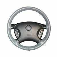 Grey Leather Steering Wheel Cover For Jaguar Compass 2017 15x4 3/8