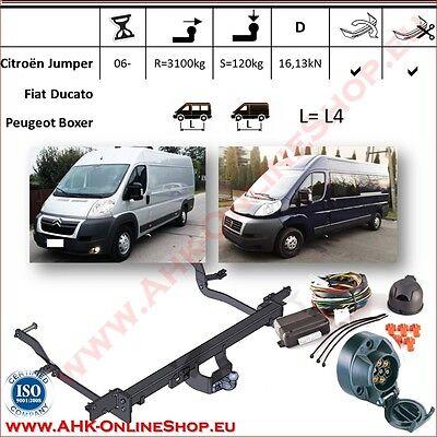 7pol spez. Für Peugeot Boxer Kasten Bus L4 L5 06-11 Anhängerkupplung AHK starr