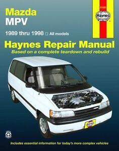 haynes service repair manual mazda mpv 1989 1998 2008 paperback rh ebay com 1992 Mazda MPV 1992 Mazda MPV