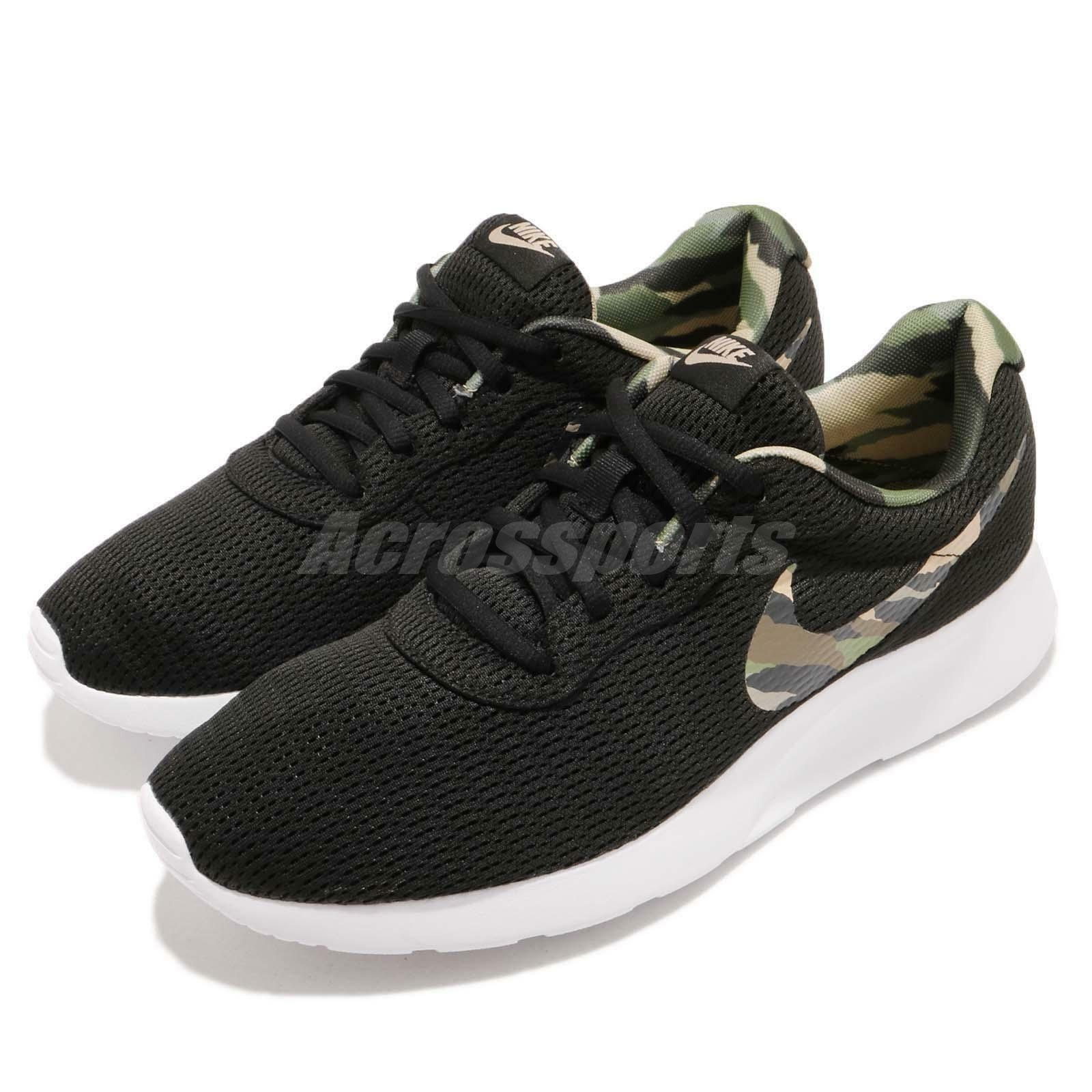 Nike Tanjun PREM Premium Black White Camo Men Casual shoes Sneakers 876899-200
