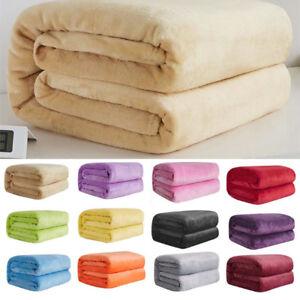 Super-Soft-Warm-Plain-Warm-Micro-Plush-Fleece-Blanket-Throw-Sofa-Bedding