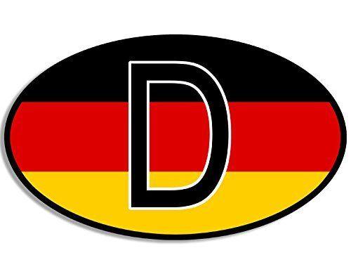 Euro Oval D Deutschland Flag Sticker