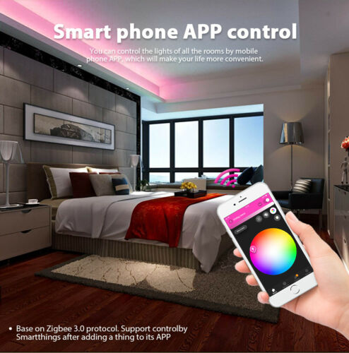 ZIGBEE 5-30M RGB//RGBW 5050 LED Streifen Stripe APP//Fernbedienung Control f Alexa