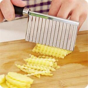 Schaeler-Gewellte-Slicer-Chips-Maker-Kartoffelschneider-Rostfreier-Stahl