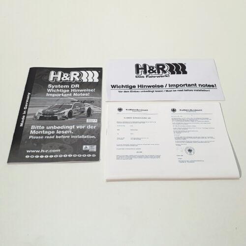 H/&R Spurverbreiterung DR-ABE 30=2x15mm für Mercedes C-Klasse W205 u Bolzen