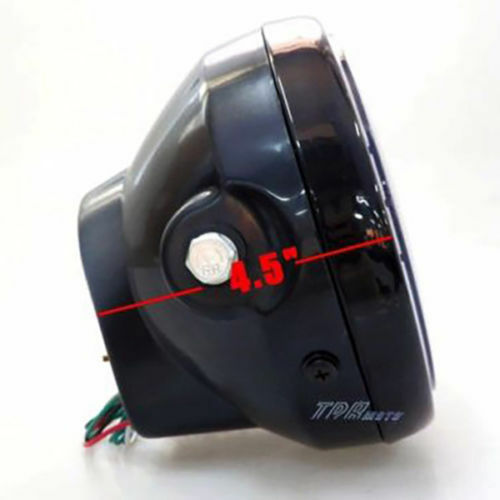 "6.5/"" Halogen Motorcycle Headlight with LED Angel Turn Signal Cafe Racer Custom"