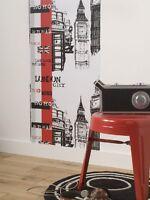 Rouleau De Revêtement Adhésif Décoratif London Rouge 0.45x2 M
