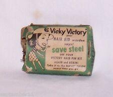"WW11 Victory Hair Pin Kit ""Vicky Victory"" Smith Victory Corp. Buffalo, New York"