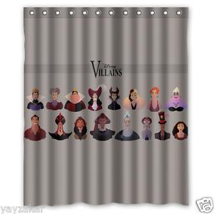 "Disney Villains Waterproof  60/""x 72/"" Shower Curtain Bath"