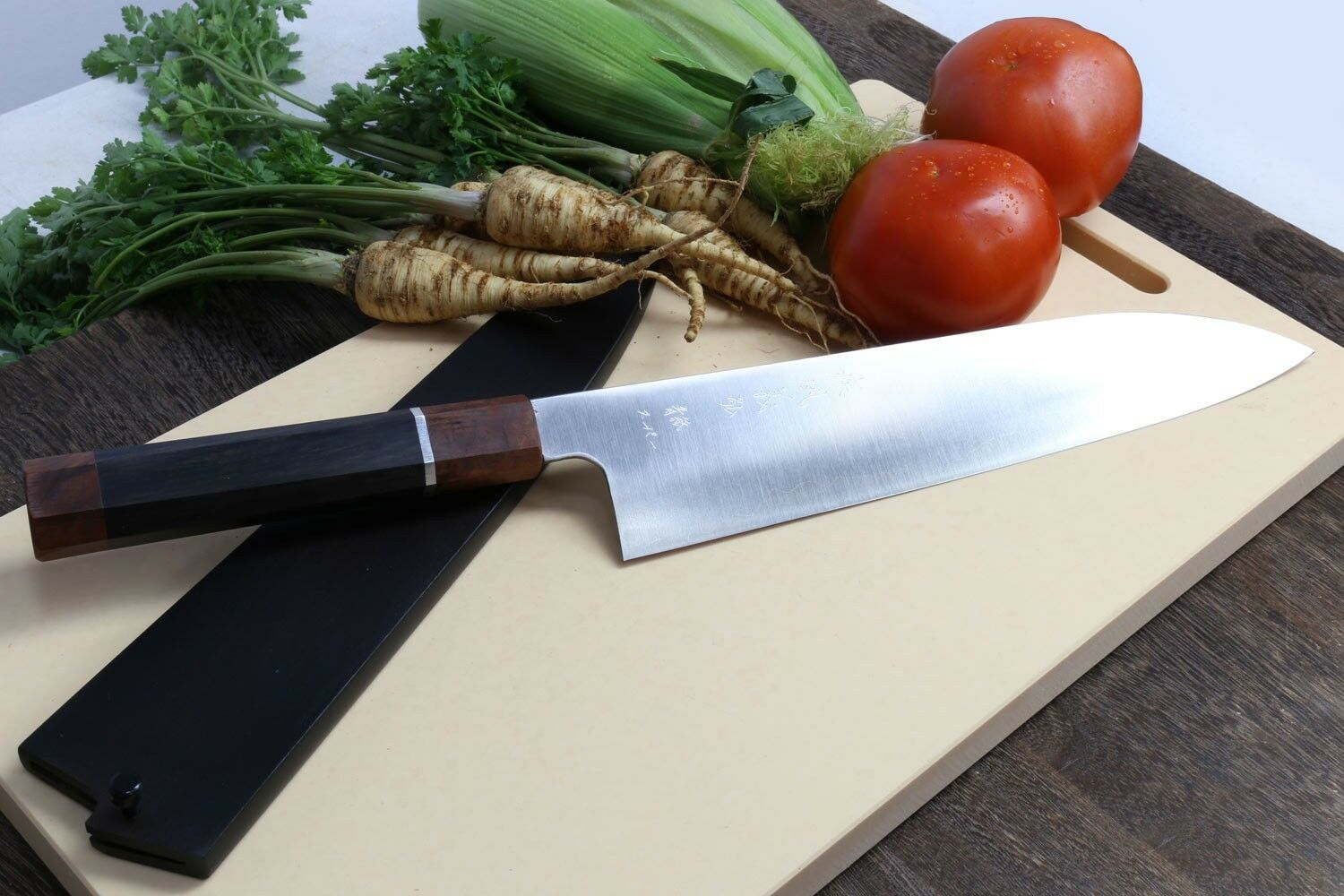 super blue high carbon steel stainless clad gyuto chefs knife with super blue high carbon steel with a hardness on the rockwell scale of 64 65 is considered to be the top of its class in high carbon steel metallurgy
