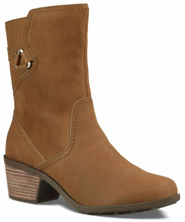 Teva SUEDE FOXY BOOT Women Waterproof SOFT Ankle Boots Brown Sz 8 EU 39