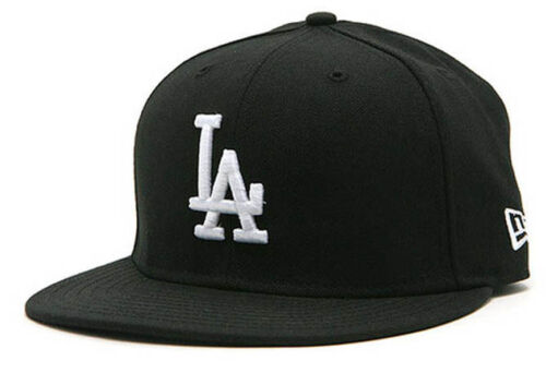 New Era la Los Angeles Dodgers black white MLB Cap 5950 Fitted team 59 Fifty