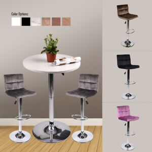 3-Pieces-Bar-Table-Stools-Set-Adjutable-Wood-Top-Swivel-Dining-Chair-Pub-Kitchen