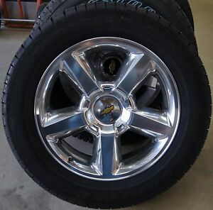 new chevy silverado tahoe suburban avalanche ltz polished 20 wheels rims tires ebay. Black Bedroom Furniture Sets. Home Design Ideas