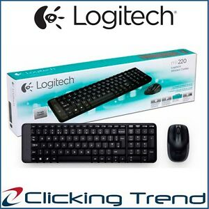Details about Wireless Keyboard and Mouse Logitech MK220 Combo for Laptop  Desktop USB NEW