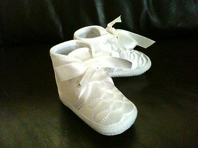 Poste LIBRE Bebé Niño Bautizo Bautismo Cochecito Zapatos Botines white/ivory 0-12m