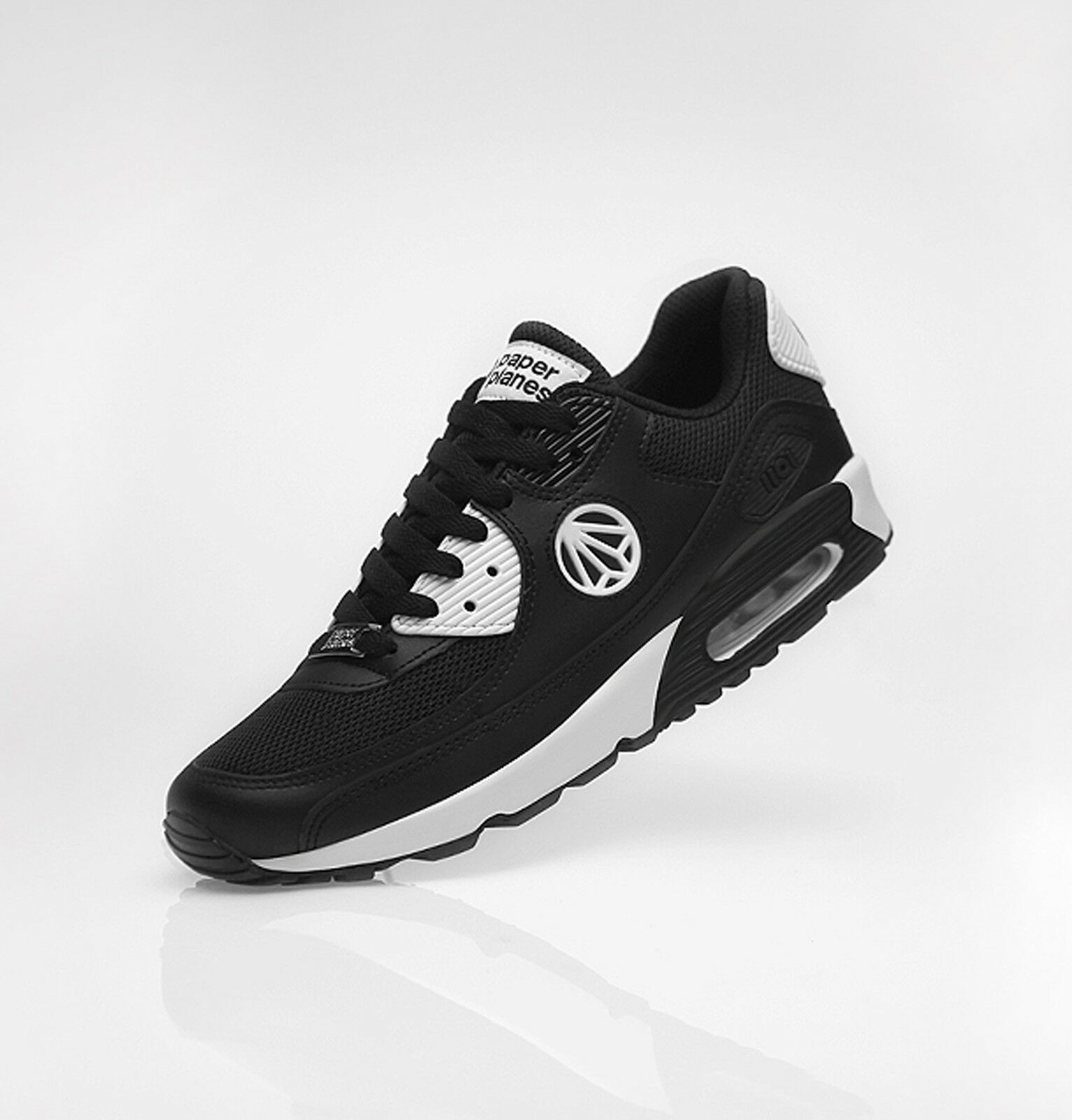 New 2016 Paperplanes Max Sports Air Running Athletic shoes_PP1101(BlackWhite)