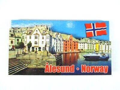 Alesund 3 D Holz Souvenir Deluxe Magnet Norwegen Norway Neu