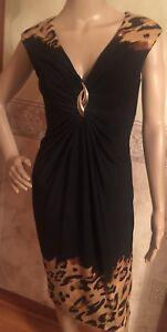 Leopard-Print-Cache-Women-Dress-Size-S