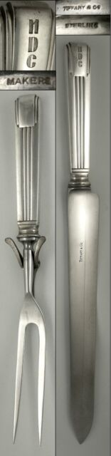 Sterling Tiffany & Co. CENTURY large carving set (2 pieces) 13 3/4
