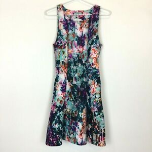 Kookai-Womens-Multicoloured-Sleeveless-Lined-Dress-with-Side-Zipper-Size-AU8-E36